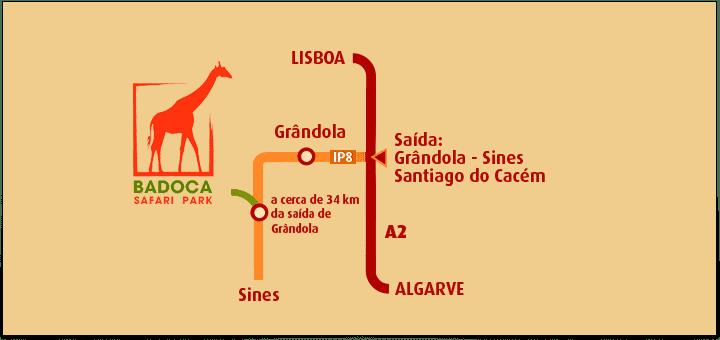 mapa badoca