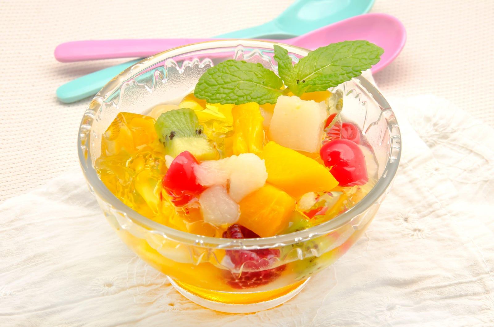 salada de gelatinas