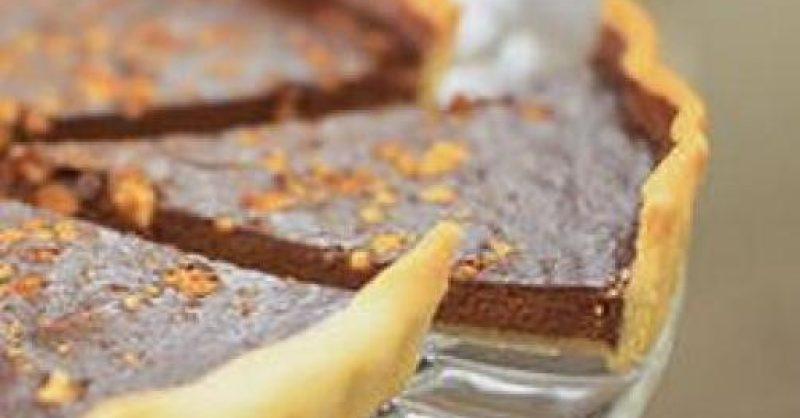 tarte de chocolate com amêndoas