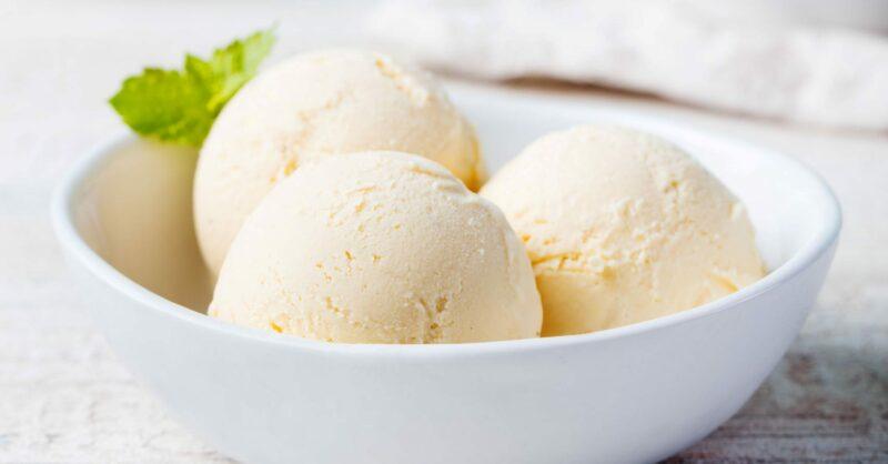 gelado de 1 ingrediente