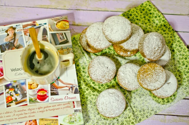 Muffins de curgete gengibre e limão