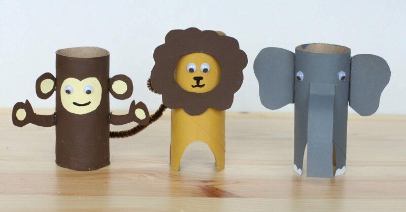 animais rolo papel
