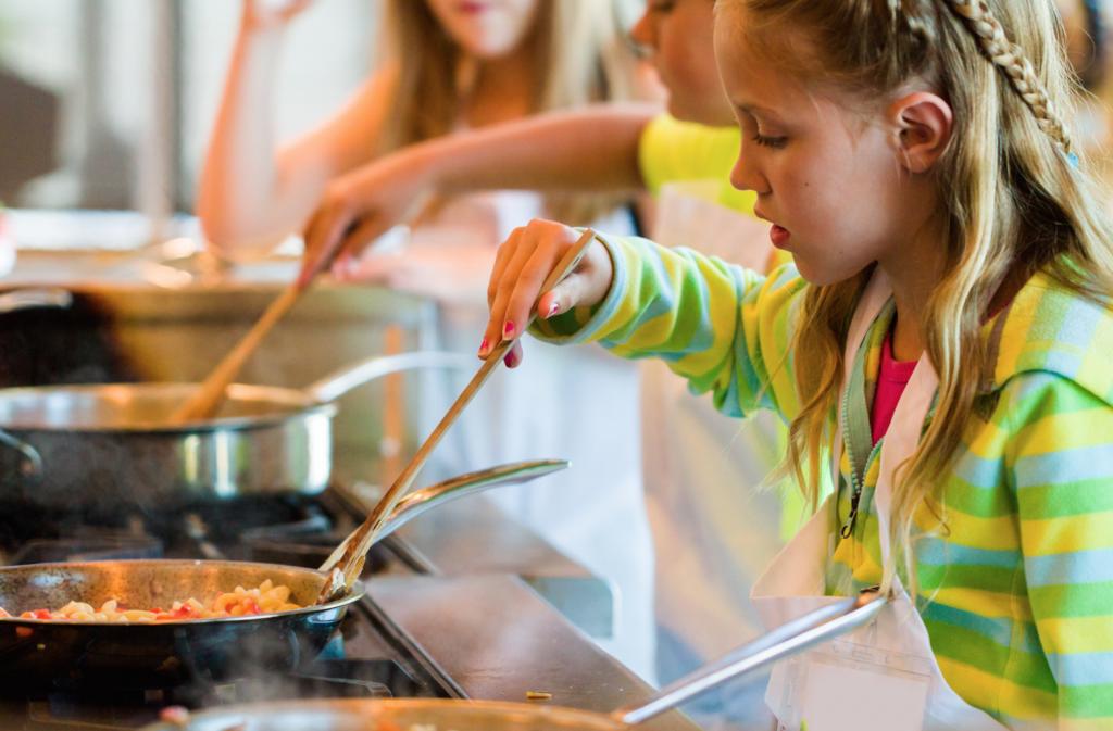 escolas de cozinha para crianças