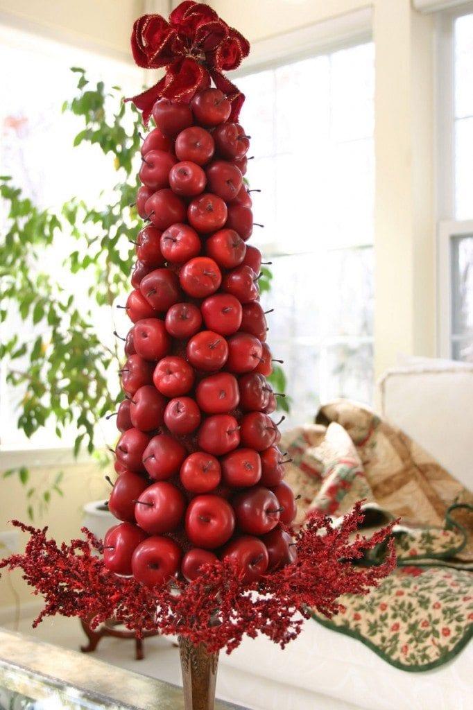 árvore de natal de maçãs