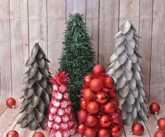 árvores de natal com talheres