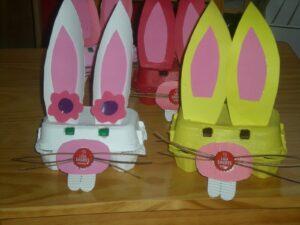 coelhos caixa de ovos