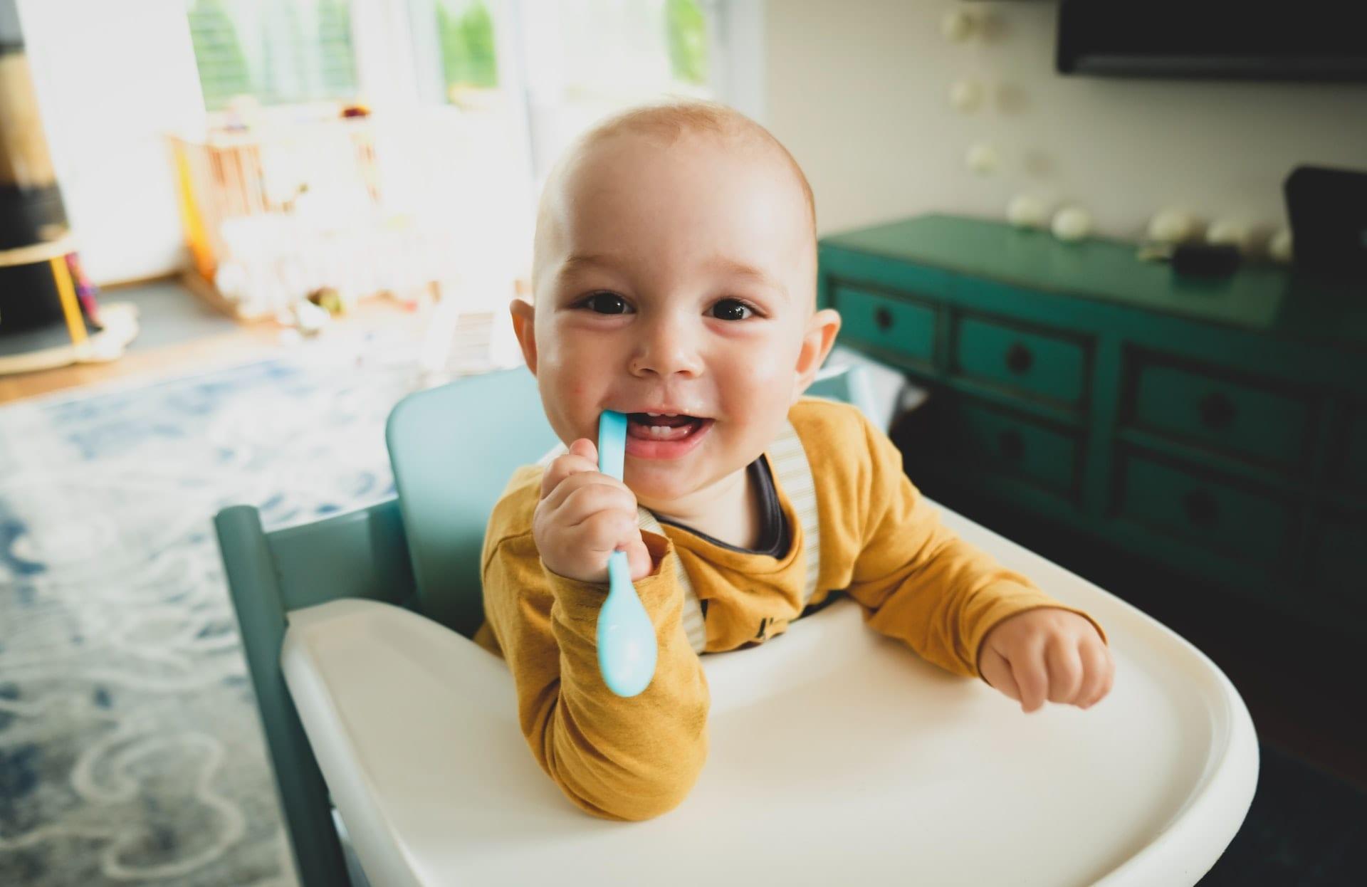 alimentação de um bebé de 5 meses