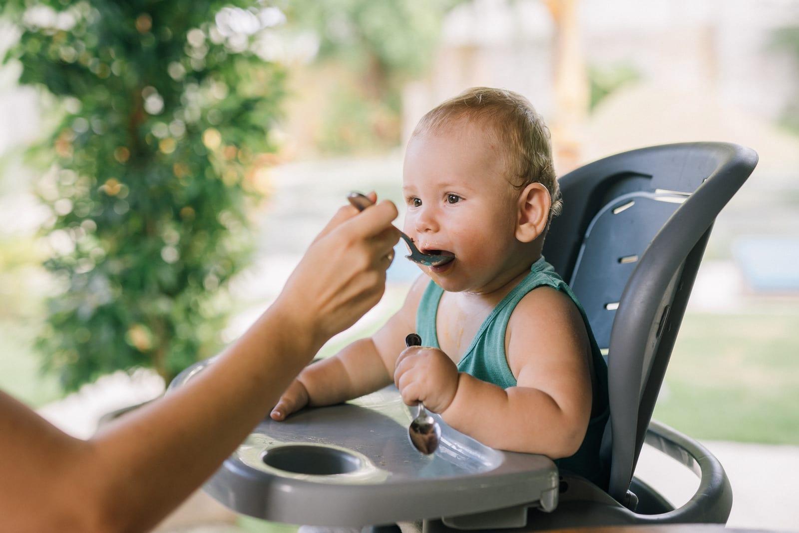 alimentação de um bebé de 6 meses