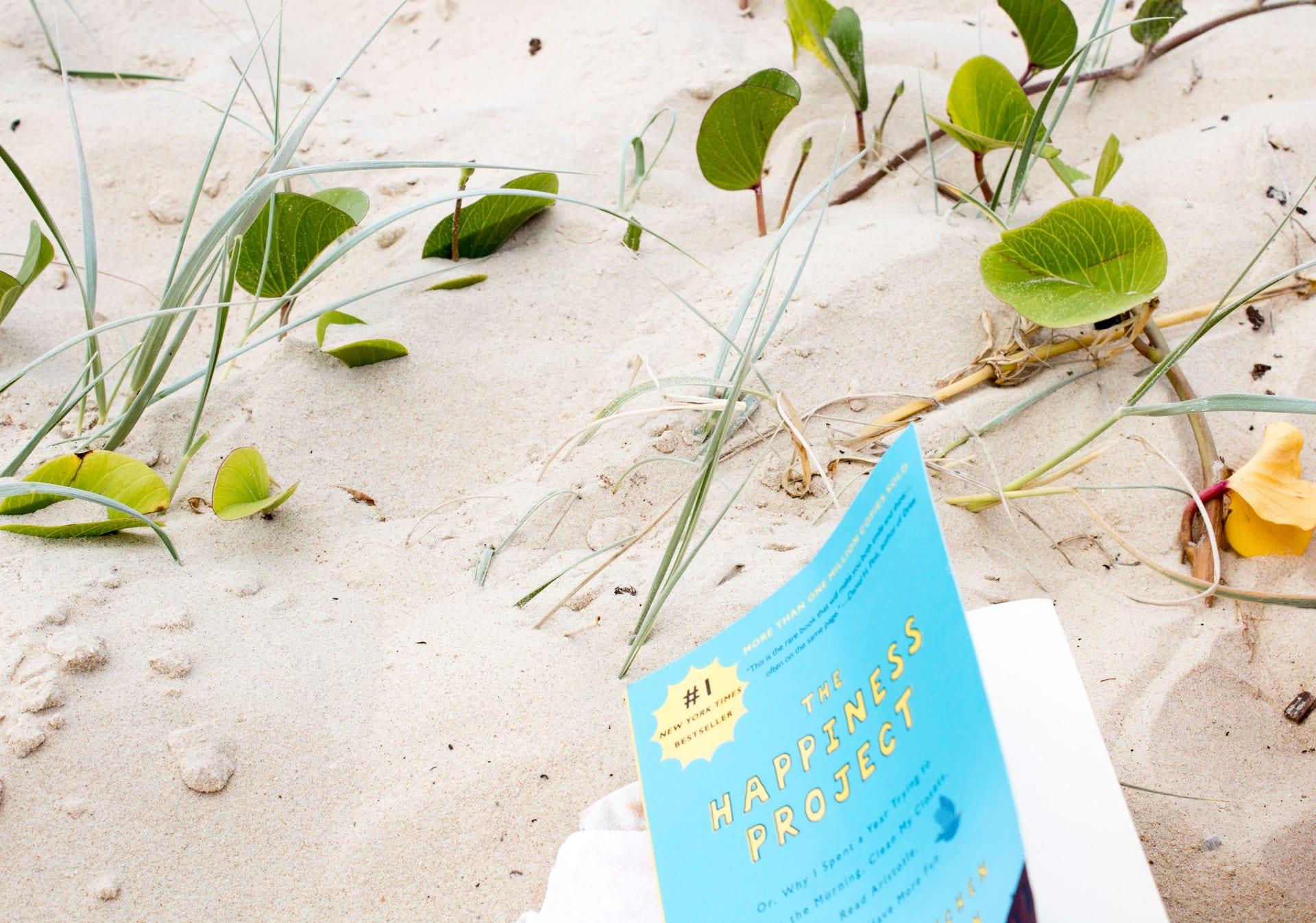 livros na praia