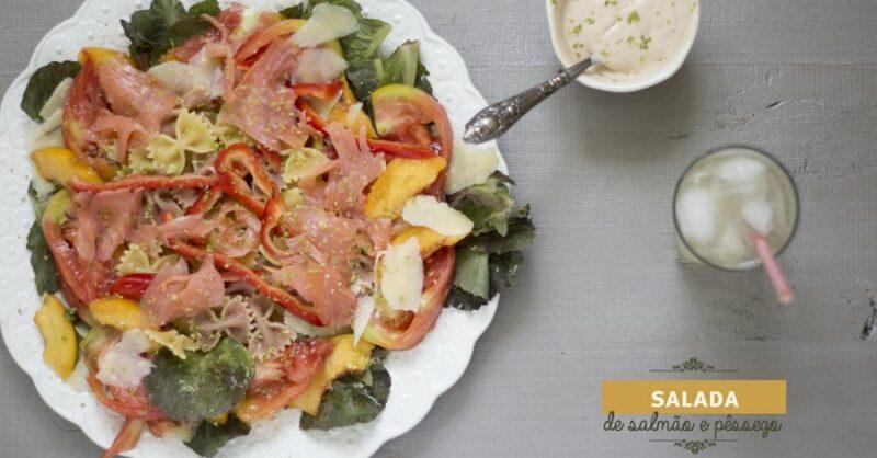 Salada de salmão fumado e nectarina