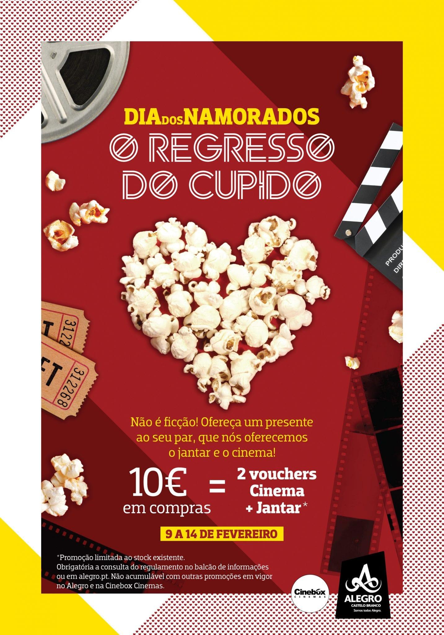 Cartaz Campanha São Valentim Alegro Castelo Branco