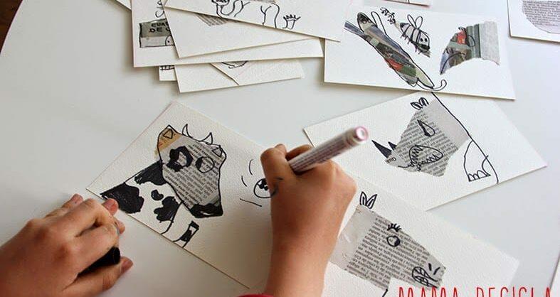 Desenho a partir do jornal