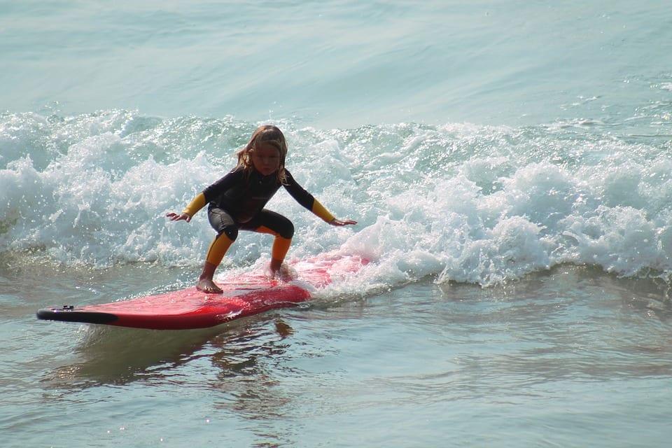 surf crianças