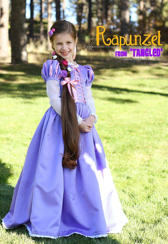 fato de carnaval Rapunzel