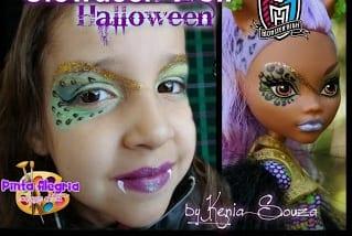 Ideias e truques para Pinturas Faciais para o Halloween: maquilhagem clawdeen wolf