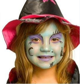 Ideias e truques para Pinturas Faciais para o Halloween: maquilhagem de bruxa