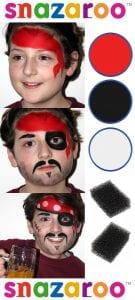 Ideias e truques para Pinturas Faciais para o Halloween: maquilhagem de pirata