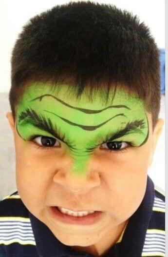 Ideias e truques para Pinturas Faciais para o Halloween: maquilhagem hulk