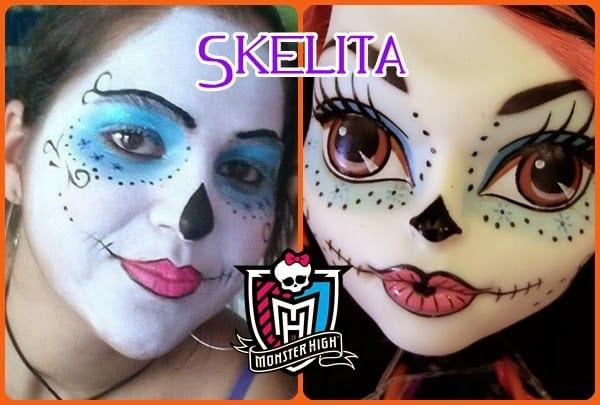 Ideias e truques para Pinturas Faciais para o Halloween: maquilhagem skelita