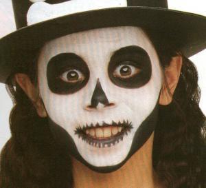 Ideias e truques para Pinturas Faciais para o Halloween: maquilhagem zombie