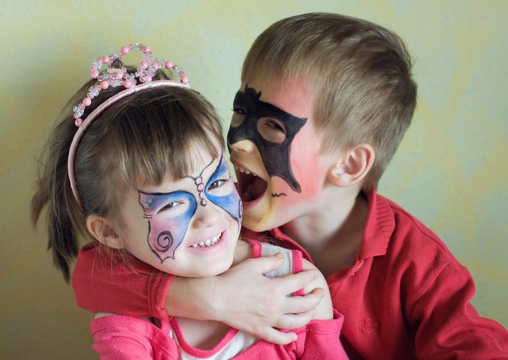 Ideias e truques para Pinturas Faciais para o Halloween: maquilhagem irmãos