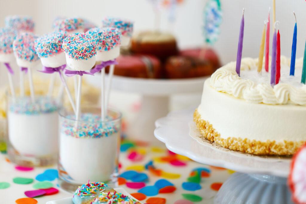 Birthday Cake Macarons