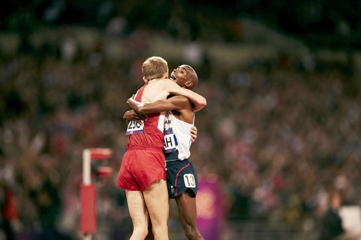 Rupp and Farah celebrate