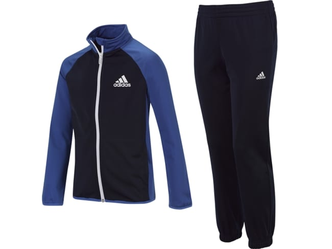 fato de treino azul e preto