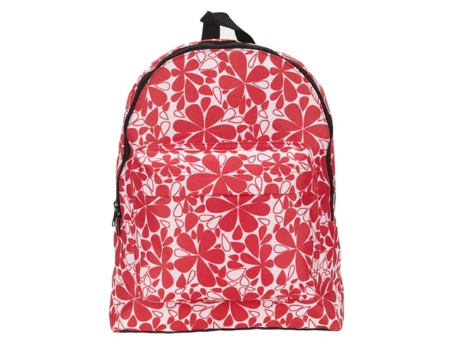 mochila com flores cor de rosa sport zone