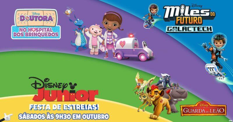 O Disney Junior está em festa com estreias fabulosas nos sábados de Outubro