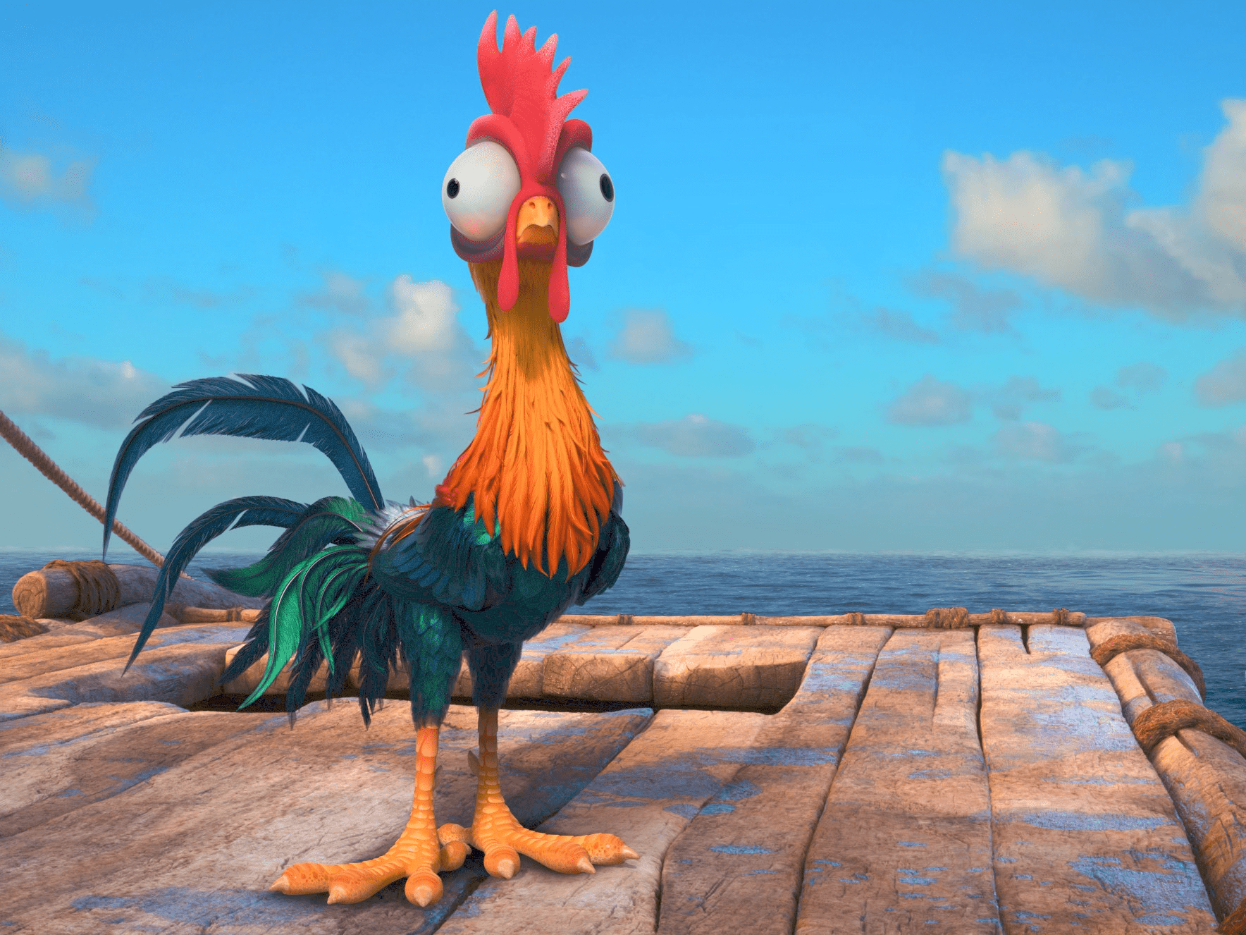Heihei personagem do filme Vaiana