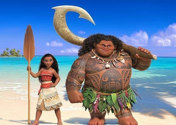 Filme Vaiana Personagens Vaiana e Maui