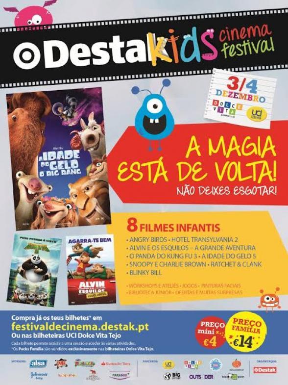 Passatempo Destak Kids Cinema Festival