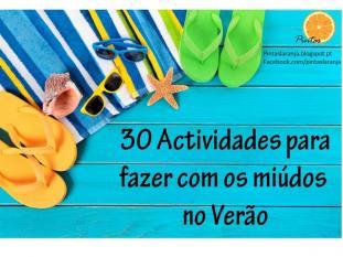 30 atividades fazer miúdos verão