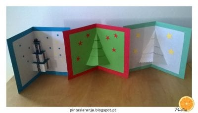 Postais de Natal pop-up