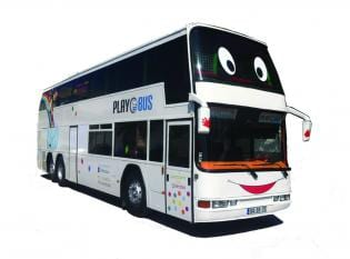 Animação Festa Autocarro, transformado num parque infantil