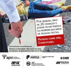 APSI lanca Campanha Prevencão Atropelamentos
