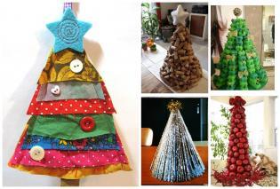 Árvores Natal criativas fazer família Natal