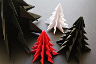 Árvores Natal Origami - instrucões passo passo vídeo
