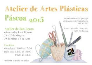 Atelier Artes Plásticas nas férias Páscoa