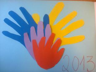 Atividade Trabalhos Manuais - quadro Mãos família