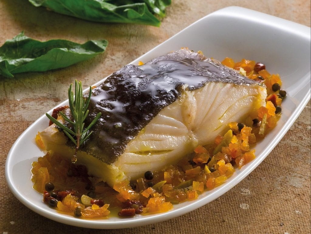 bacalhau confitado no forno