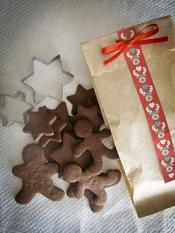 Bolachinhas chocolate formas Natal