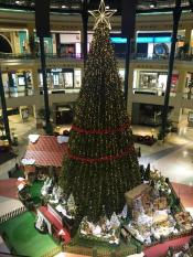 Cenário muito realista cores sons assinala chegada Natal Centro Colombo