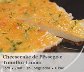 Cheesecake Pêssego Tomilho-Limão