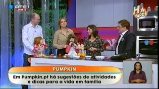 Conhecam família Pumpkin programa Há Tarde RTP1