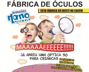 Fábrica Óculos: Oculista das Criancas. Venha conhecer por dentro