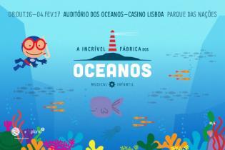 A Incrível Fábrica dos Oceanos: espetáculo de teatro musical infantil