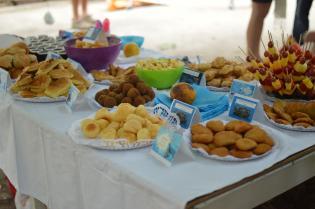 Festas originais - tema Frozen - reino Gelo: Comida
