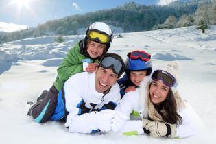 Guia as primeiras Férias Neve Família